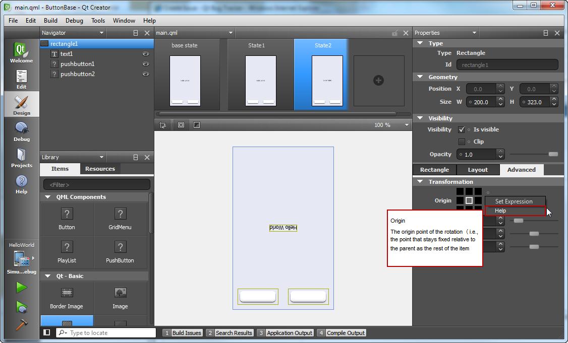 QTCREATORBUG-2834] Display context-sensitive help for
