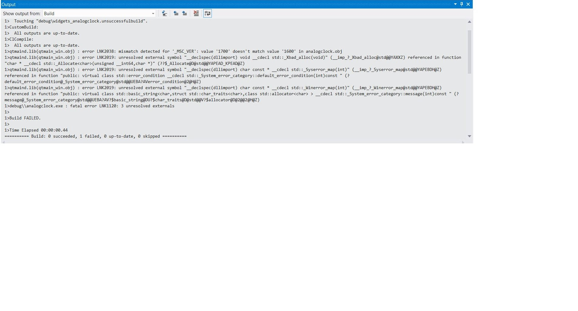 QTBUG-30822] Not able to build application with VS2012 IDE - Qt Bug