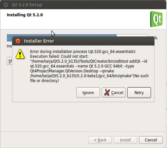 QTBUG-34660] Qt5 2 0 Linux 64bit installer: error during