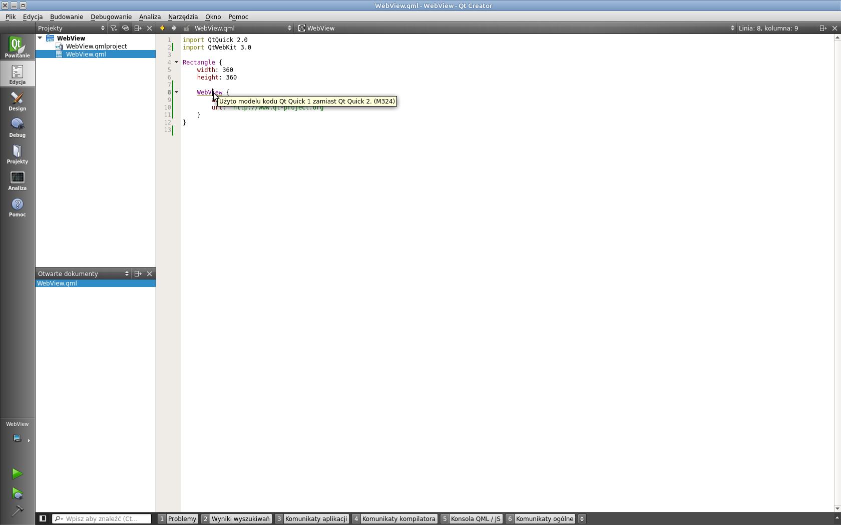 Qt Webview Javascript