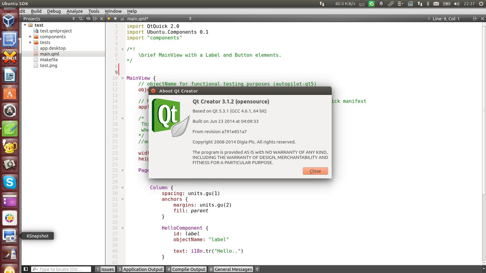 qt creator 5.2.1