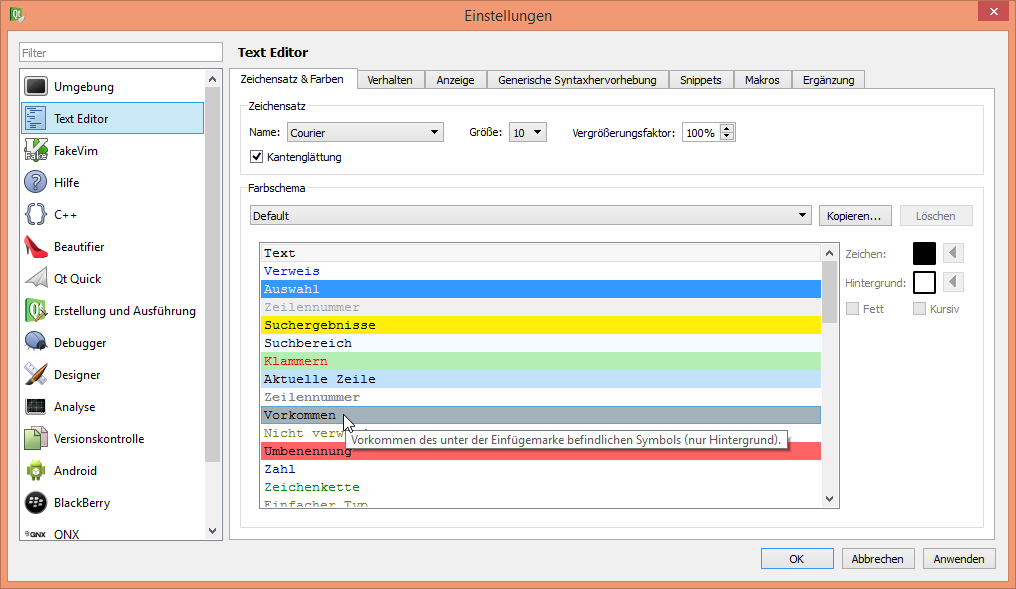 Qtcreatorbug 13290 Options In The Theme Editors Need To Be