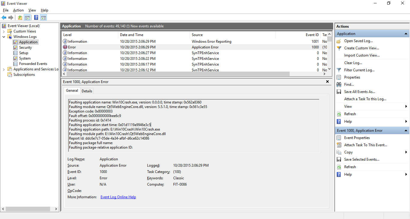 QTBUG-48973] Qt5WebEngineCore - Crashes with code 0x80000003 (A