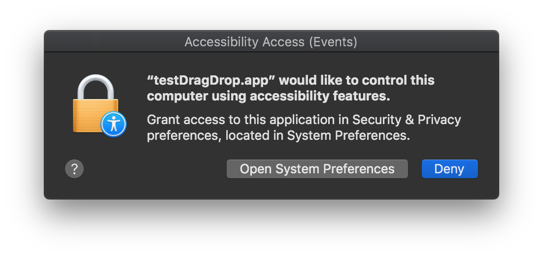 QTBUG-68830] macOS Mojave: Any drag causes the new security