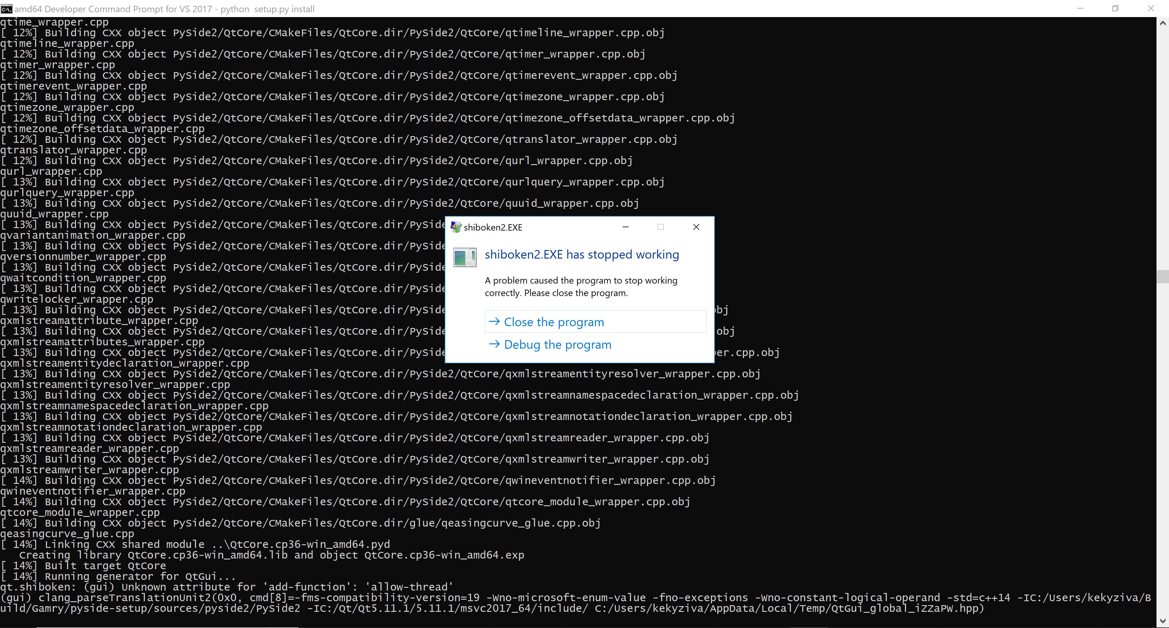 PYSIDE-739] Windows build fails during QtGui bindings